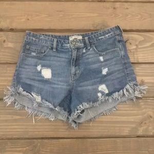 Free People distressed cutoff shorts